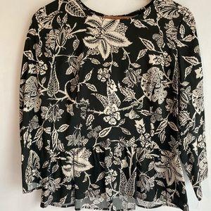Isabel Marant Silk Black & White Peplum Top